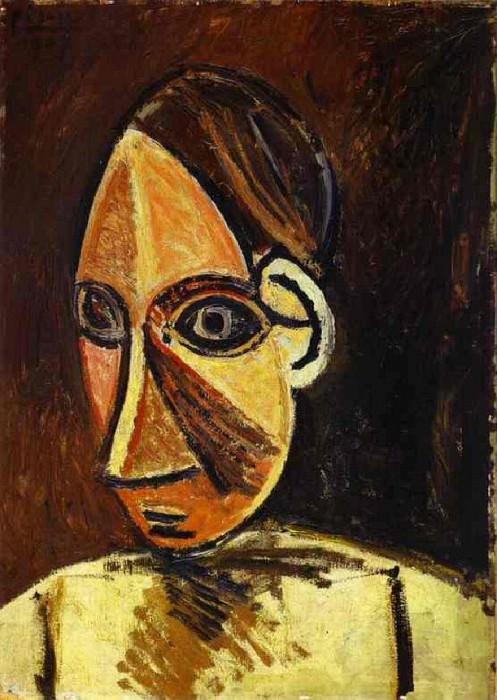 1907 TИte de femme. Pablo Picasso (1881-1973) Period of creation: 1889-1907