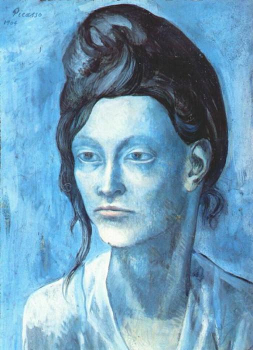 1904 Femme au chignon. Pablo Picasso (1881-1973) Period of creation: 1889-1907