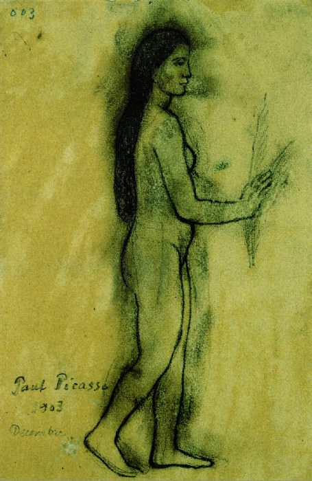 1903 Hommage Е Gauguin. Pablo Picasso (1881-1973) Period of creation: 1889-1907