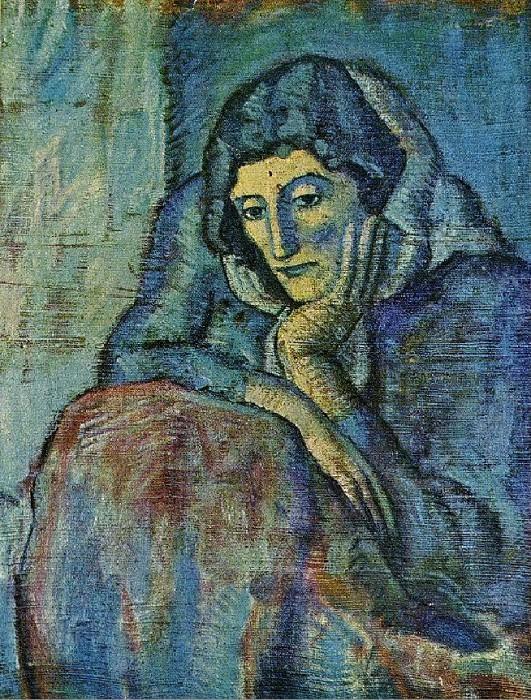 1902 Femme en bleu. Пабло Пикассо (1881-1973) Период: 1889-1907