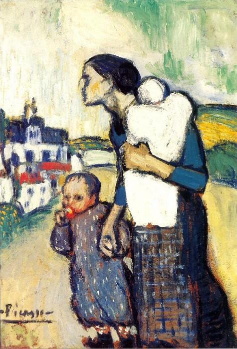 1901 MКre et enfant2. Пабло Пикассо (1881-1973) Период: 1889-1907