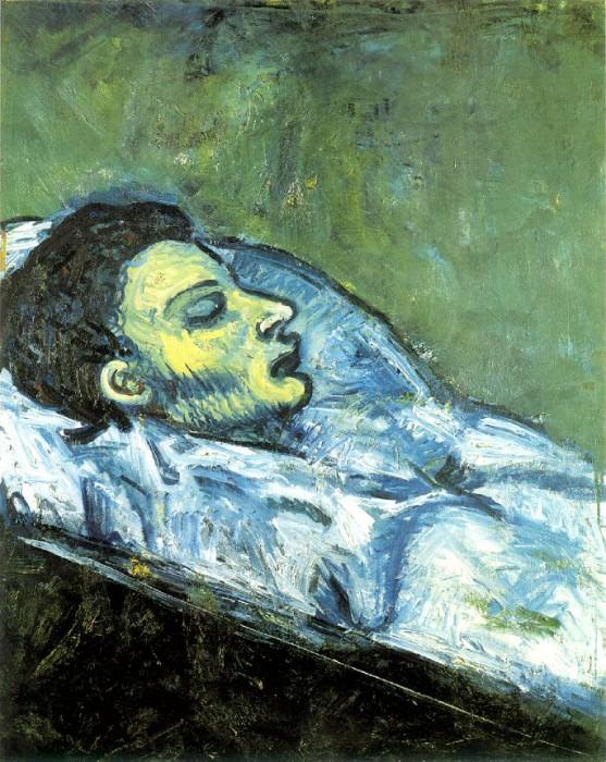 1901 La mort de Casagemas (Casagemas dans son cercueil). Pablo Picasso (1881-1973) Period of creation: 1889-1907