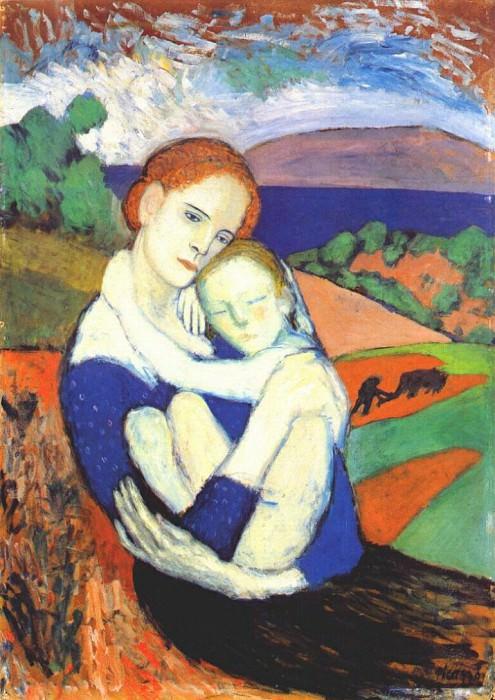 1901 MКre et son enfant. Pablo Picasso (1881-1973) Period of creation: 1889-1907