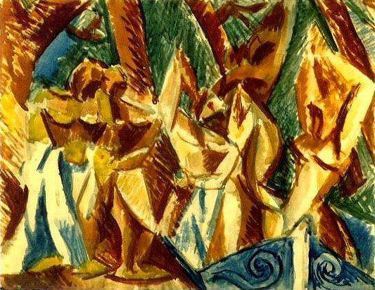 1907 Cinq femmes2. Pablo Picasso (1881-1973) Period of creation: 1889-1907