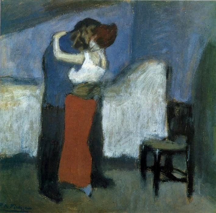 1900 LВtreinte dans la mansarde. Пабло Пикассо (1881-1973) Период: 1889-1907