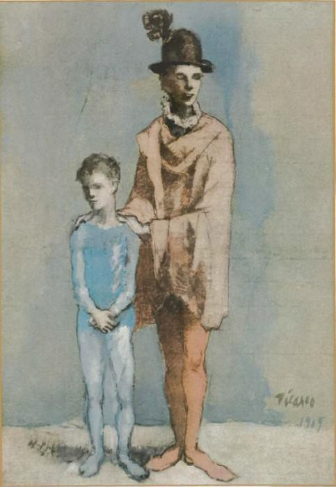 1905 Acrobate et jeune arlequin3. Pablo Picasso (1881-1973) Period of creation: 1889-1907