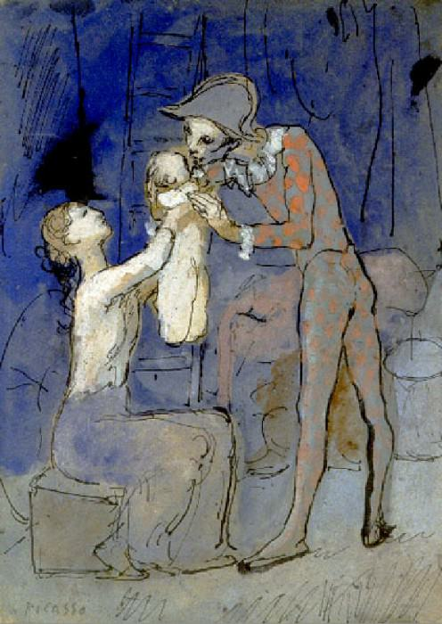 1905 Famille darlequin. Pablo Picasso (1881-1973) Period of creation: 1889-1907