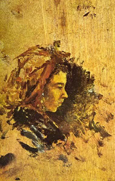 1895 Profil de femme de Galice. Пабло Пикассо (1881-1973) Период: 1889-1907
