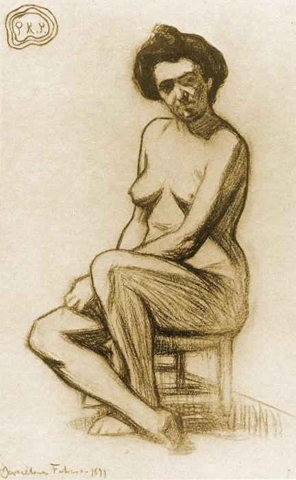 1899 Femme nue assise2. Пабло Пикассо (1881-1973) Период: 1889-1907