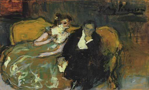 1901 La conversation. Пабло Пикассо (1881-1973) Период: 1889-1907