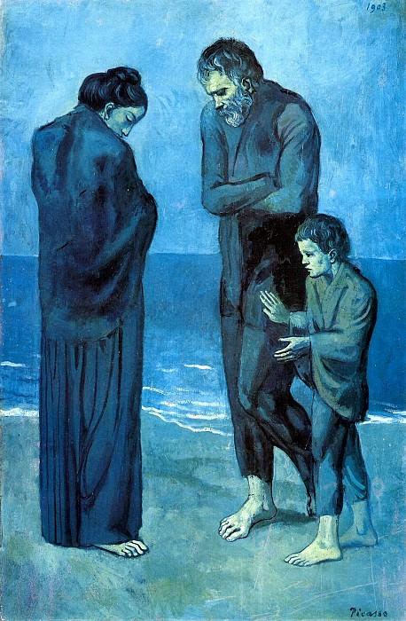 1903 Des pauvres au bord de la mer. Pablo Picasso (1881-1973) Period of creation: 1889-1907