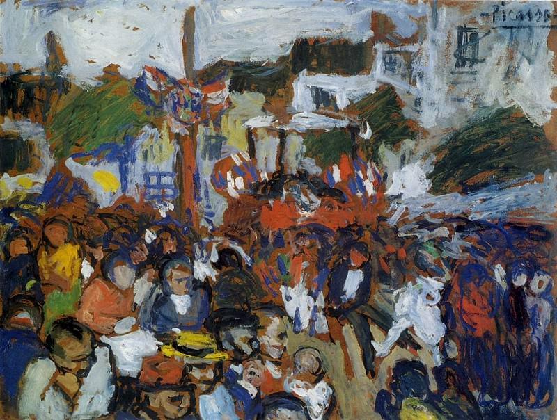 1901 Le quatorze juillet. Пабло Пикассо (1881-1973) Период: 1889-1907