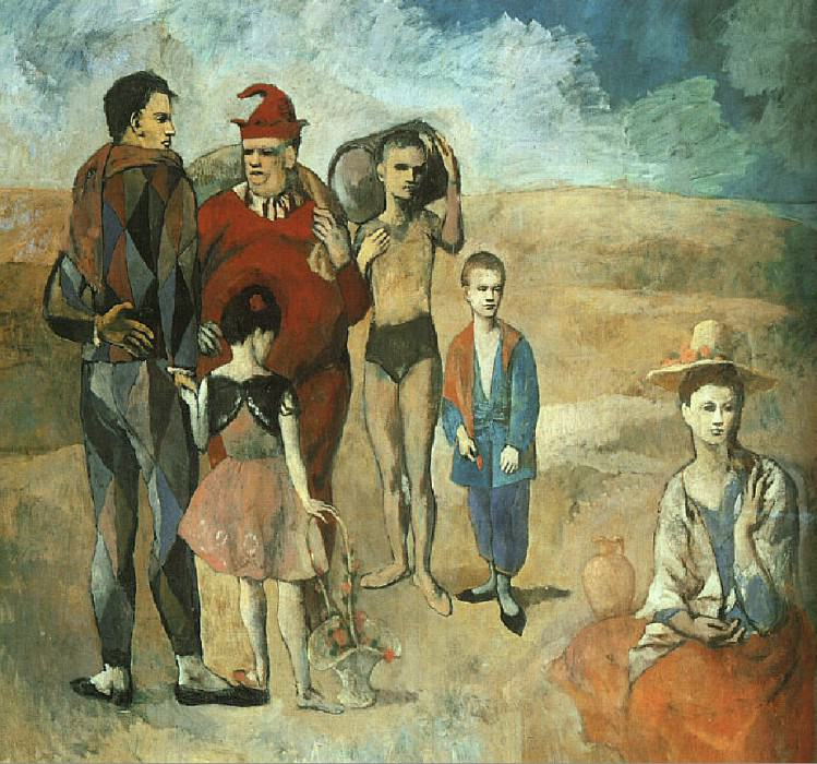 1905 Famille de saltimbanques (Les bateleurs). Pablo Picasso (1881-1973) Period of creation: 1889-1907