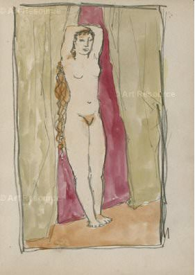 1905 Femme debout. Pablo Picasso (1881-1973) Period of creation: 1889-1907