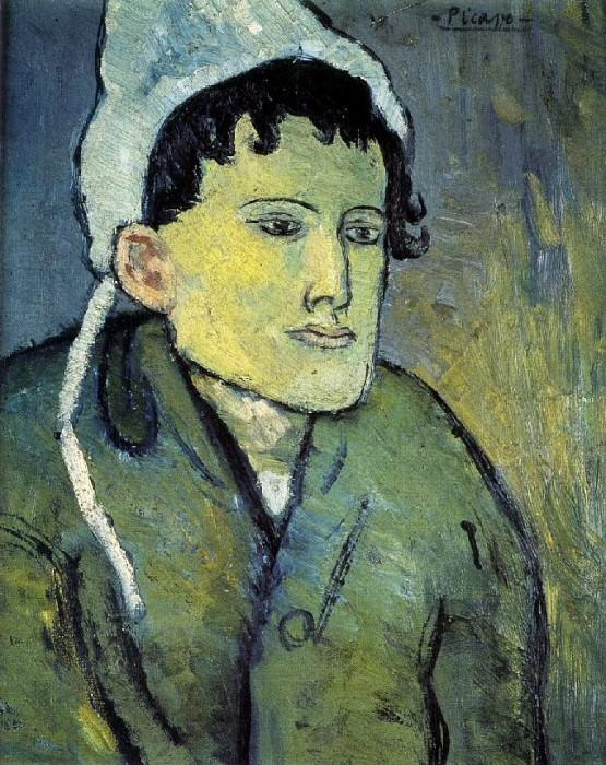 1901 Femme au bonnet. Пабло Пикассо (1881-1973) Период: 1889-1907