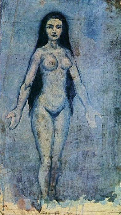 1902 Femme nue aux cheveux longs. Пабло Пикассо (1881-1973) Период: 1889-1907