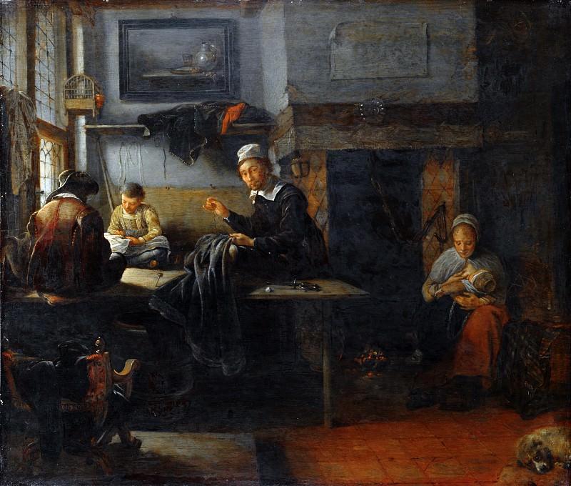 Quiringh van Brekelenkam - Interior of a Tailors Shop. Part 6 National Gallery UK