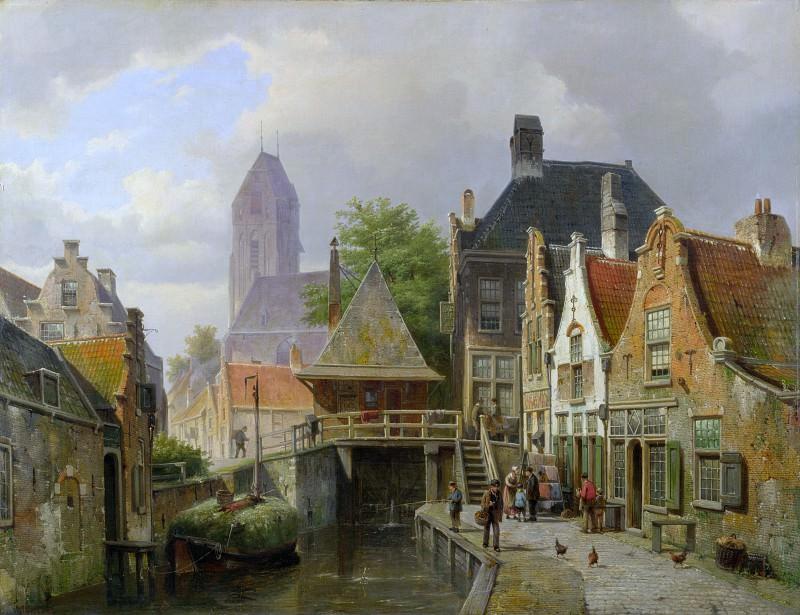Willem Koekkoek - View of Oudewater. Part 6 National Gallery UK