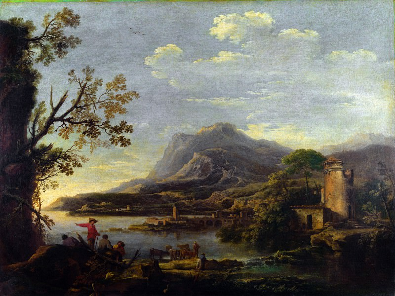 Style of Salvator Rosa - A Coastal Scene. Part 6 National Gallery UK