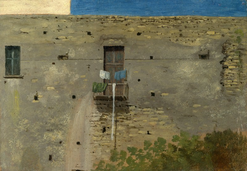 Thomas Jones - A Wall in Naples. Part 6 National Gallery UK