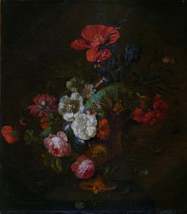 Ян ван Хейсум (манера) - Цветы в каменной вазе. Часть 6 Национальная галерея