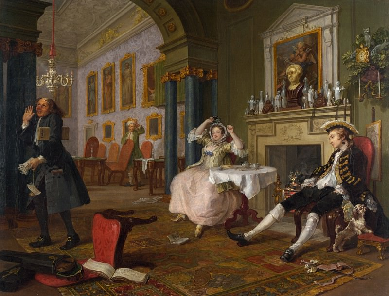William Hogarth - Marriage A-la-Mode - 2, The Tete a Tete. Part 6 National Gallery UK