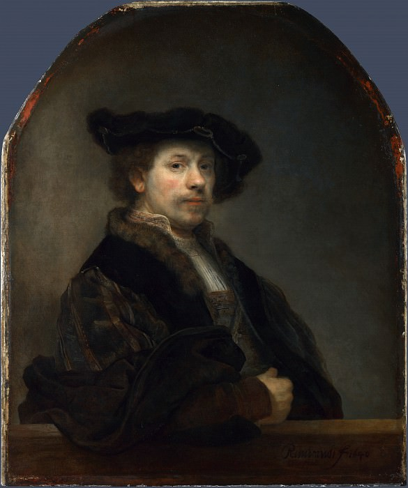 Self Portrait at the Age of 34. Rembrandt Harmenszoon Van Rijn
