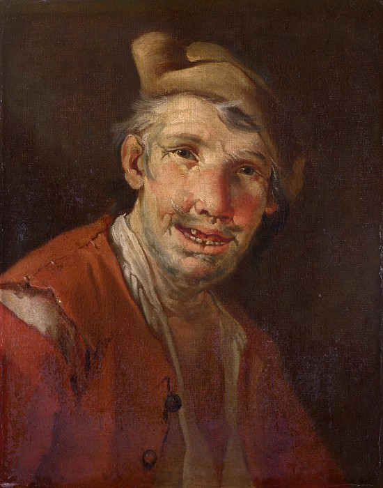 Style of Giacomo Francesco Cipper - Head of a Man in Red. Part 6 National Gallery UK
