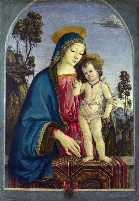 Pinturicchio - The Virgin and Child. Part 6 National Gallery UK