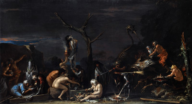 Salvator Rosa - Witches at their Incantations. Part 6 National Gallery UK