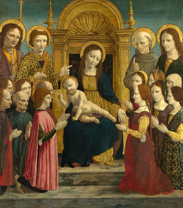 the Master of the Pala Sforzesca - The Virgin and Child with Saints and Donors. Part 6 National Gallery UK
