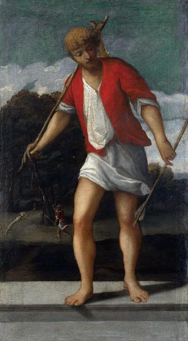 Studio of Bonifazio di Pitati - A Huntsman. Part 6 National Gallery UK