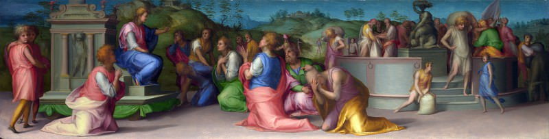 Pontormo - Josephs Brothers beg for Help. Part 6 National Gallery UK