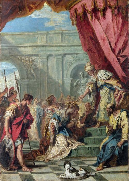 Sebastiano Ricci - Esther before Ahasuerus. Part 6 National Gallery UK