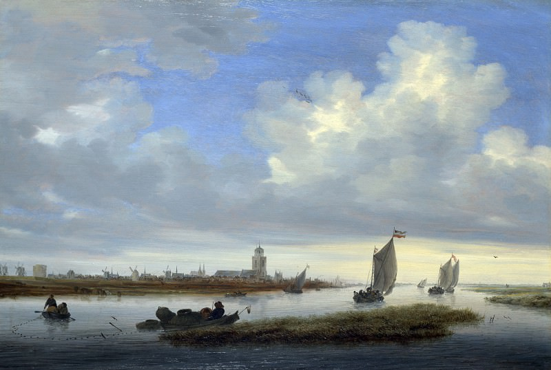Salomon van Ruysdael - A View of Deventer seen from the North-West. Part 6 National Gallery UK