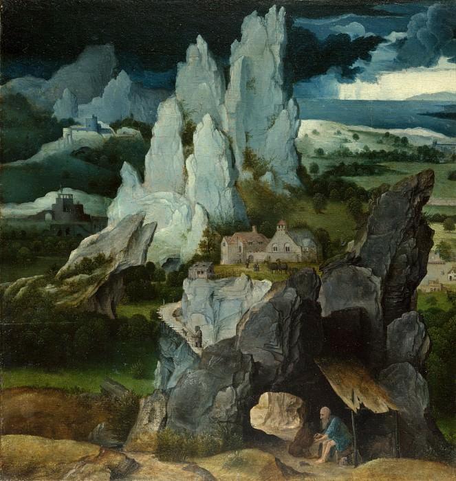 the Workshop of Joachim Patinir - Saint Jerome in a Rocky Landscape. Part 6 National Gallery UK
