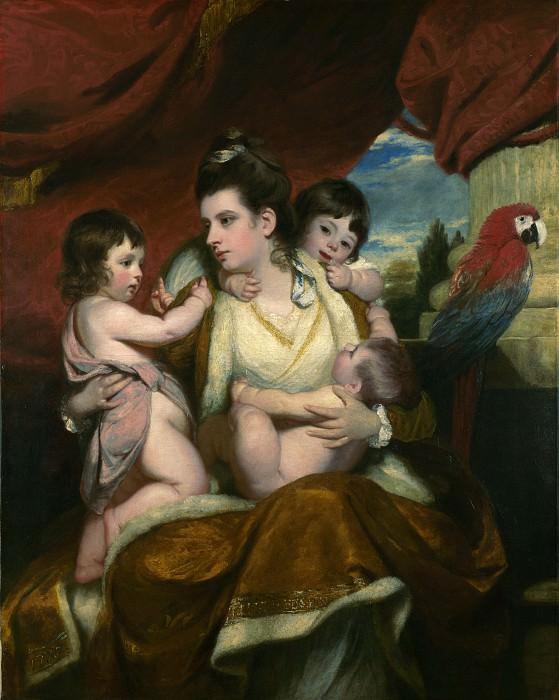 Sir Joshua Reynolds - Lady Cockburn and her Three Eldest Sons. Part 6 National Gallery UK