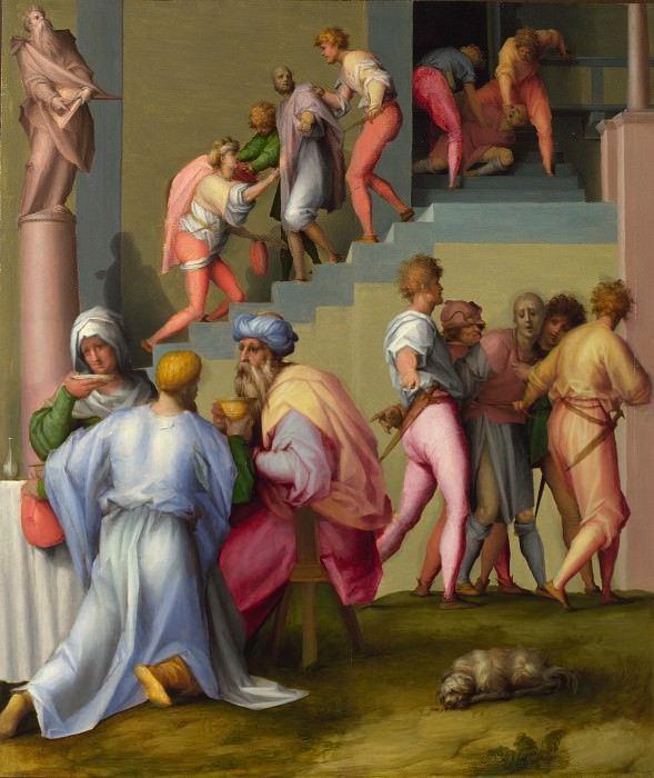 Pontormo - Pharaoh with his Butler and Baker. Part 6 National Gallery UK