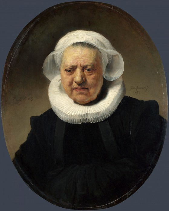 Rembrandt - Portrait of Aechje Claesdr.. Part 6 National Gallery UK