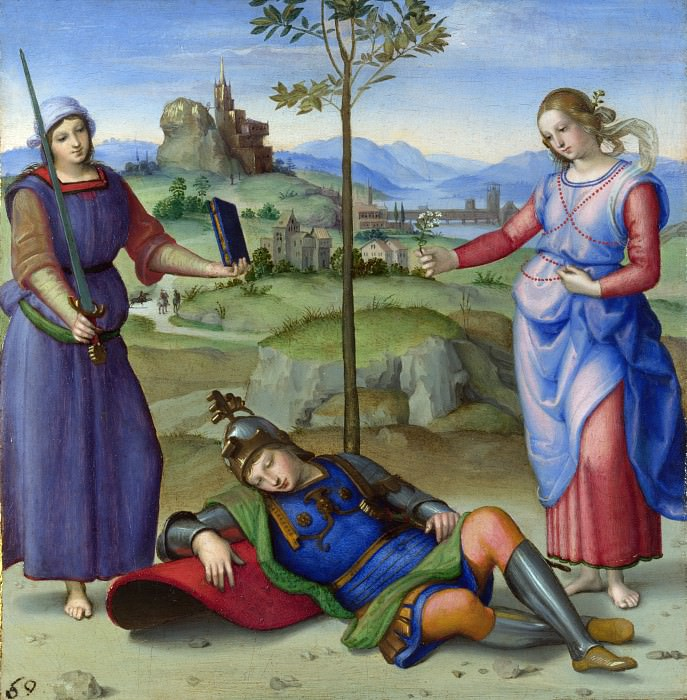 Raphael - An Allegory (Vision of a Knight). Part 6 National Gallery UK