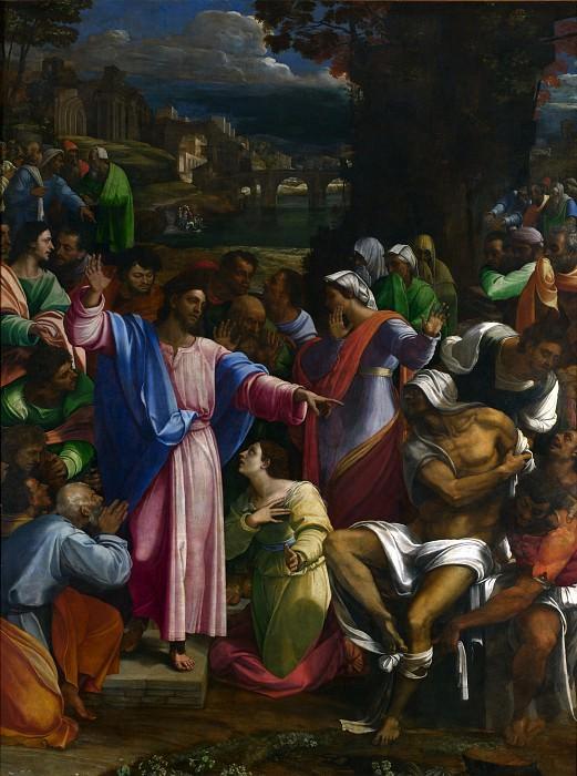 Sebastiano del Piombo - The Raising of Lazarus. Part 6 National Gallery UK