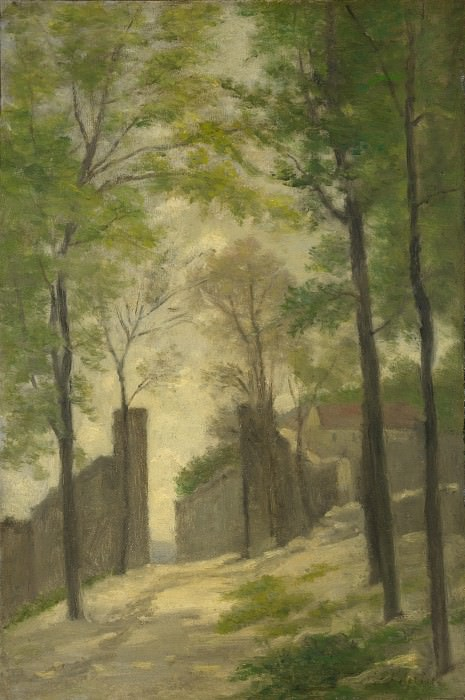 Stanislas Victor Edmond Lepine - A Gateway behind Trees. Part 6 National Gallery UK