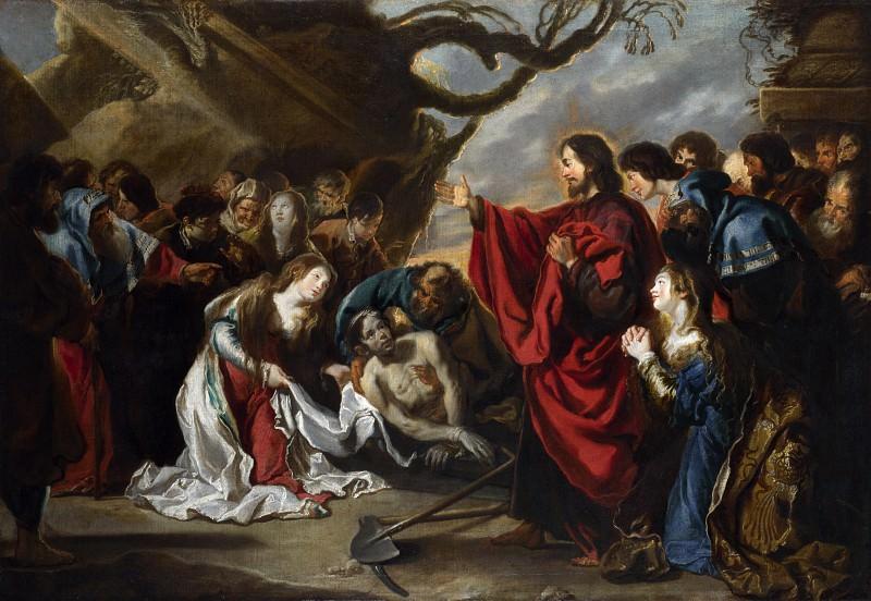 Simon de Vos - The Raising of Lazarus. Part 6 National Gallery UK