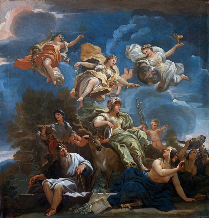 Luca Giordano - Allegory of Prudence. Part 6 National Gallery UK