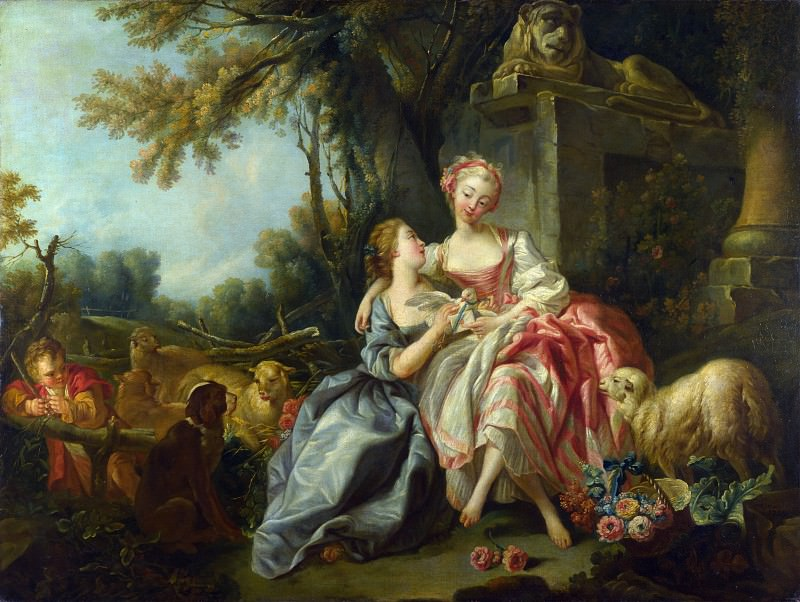 Studio of Francois Boucher - The Billet-Doux. Part 6 National Gallery UK