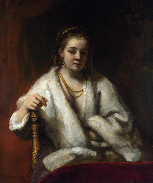 Portrait of Hendrickje Stoffels (attr). Rembrandt Harmenszoon Van Rijn