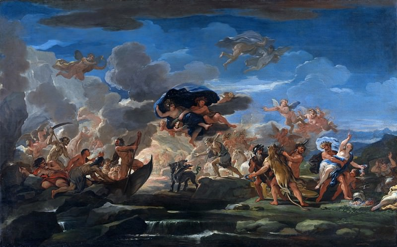 Luca Giordano - Mythological Scene with the Rape of Proserpine. Part 6 National Gallery UK