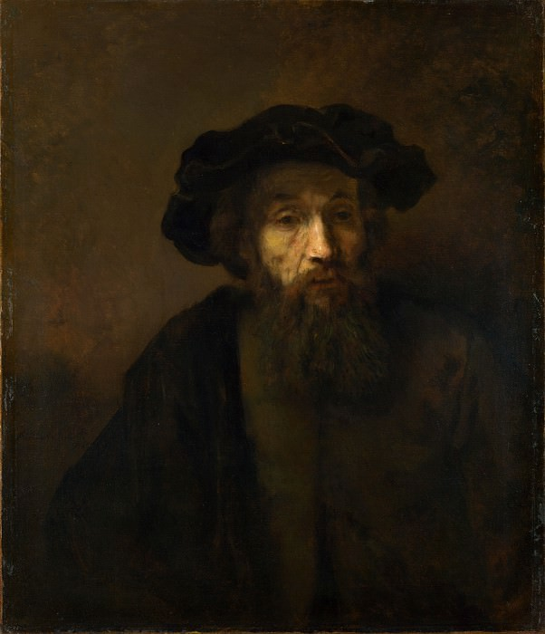 Rembrandt - A Bearded Man in a Cap. Part 6 National Gallery UK
