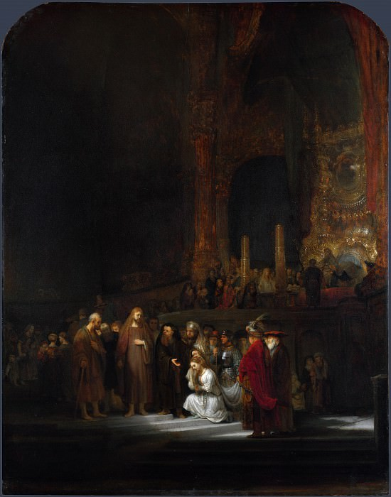 The Woman taken in Adultery. Rembrandt Harmenszoon Van Rijn