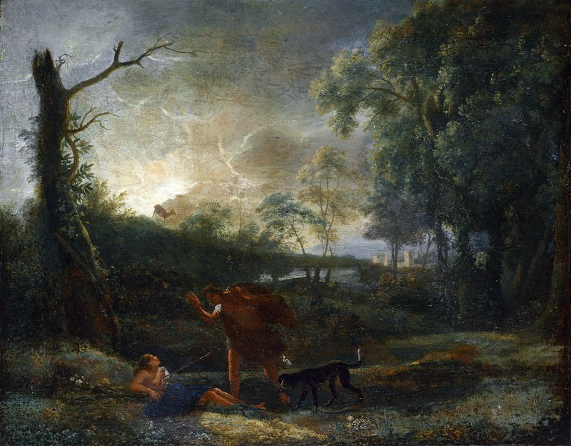 Studio of Claude - Landscape with the Death of Procris. Part 6 National Gallery UK